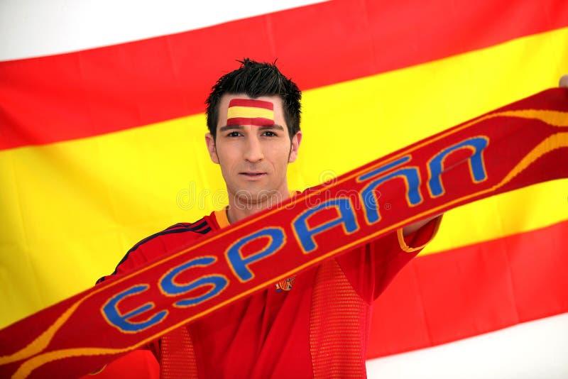 Avid Spain fan stock image