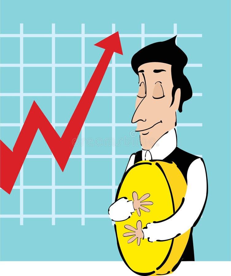 Download Avido illustrazione di stock. Illustrazione di banchiere - 7321906