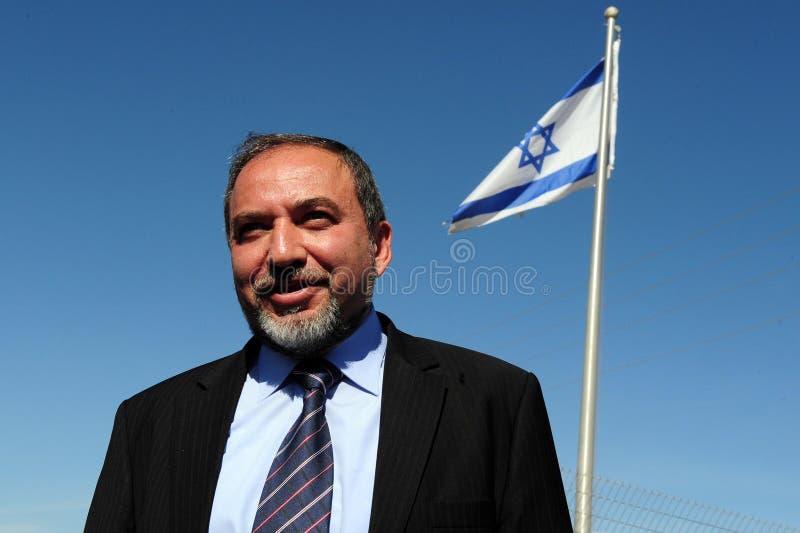 Avigdor Lieberman royaltyfria foton