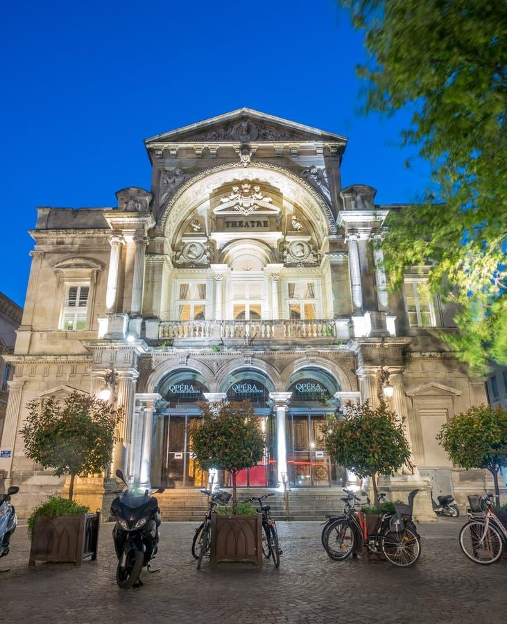 Opera theatre in Avignon stock images