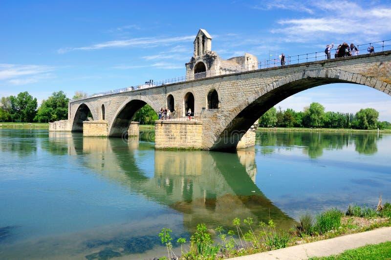Avignon-Brücke stockbild