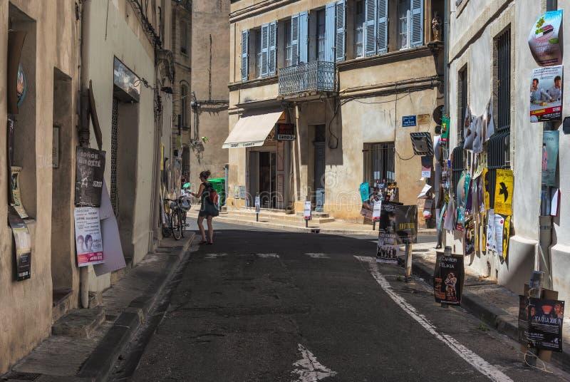 AVIGNON, DE PROVENCE, FRANKRIJK - JULI 5, 2017: Festival D ` Avignon stock afbeelding