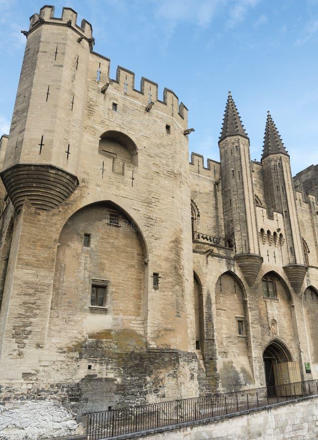 Avignon, DES Papes de Palais image libre de droits