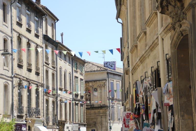 Avignon festival in France stock photo
