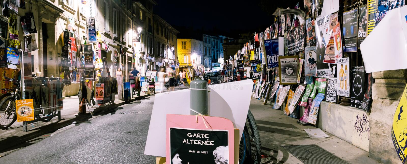 Avignon festival posters night royalty free stock photo