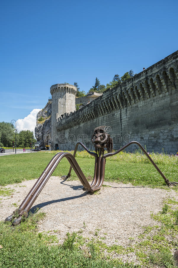 Download Avignon (Frances) photo stock. Image du extérieur, avignon - 76076240