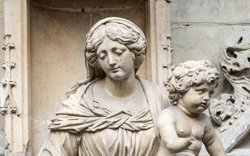 Download Avignon, historic church stock image. Image of statue - 34421357