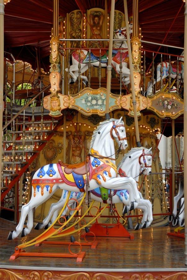 avignon karusellhästar royaltyfri fotografi