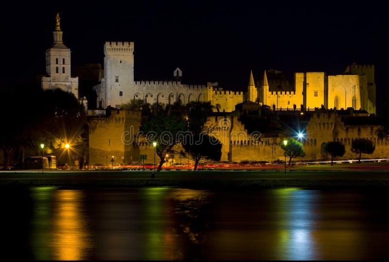 Avignon la nuit, Provence, France photos libres de droits