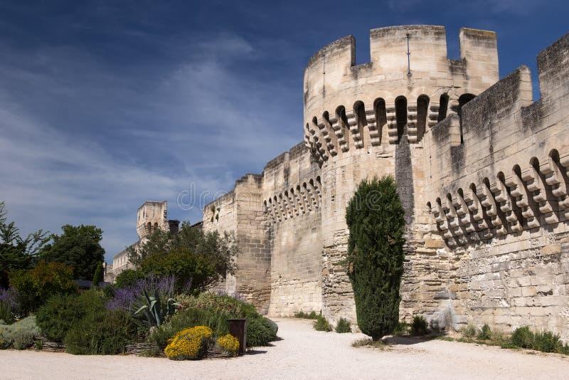 Avignon miasta ściany Ramparts, Francja zdjęcie stock