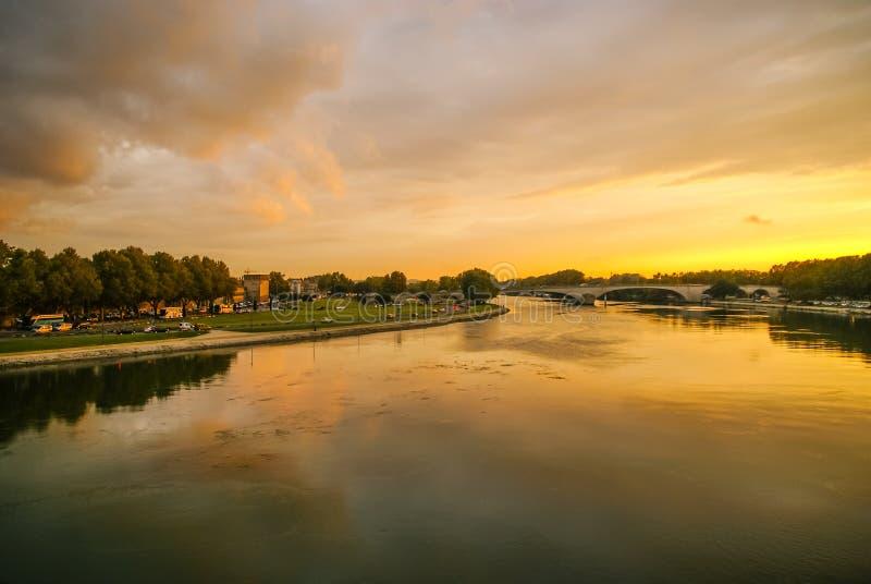 Avignon no por do sol, França fotografia de stock royalty free