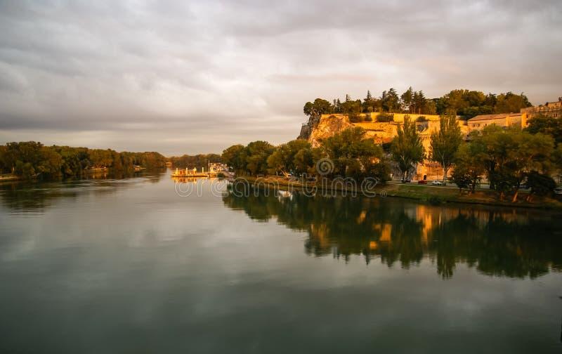Avignon no por do sol, França imagens de stock royalty free