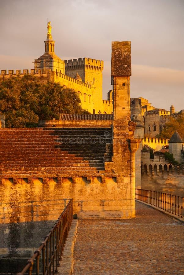 Avignon no por do sol, França foto de stock