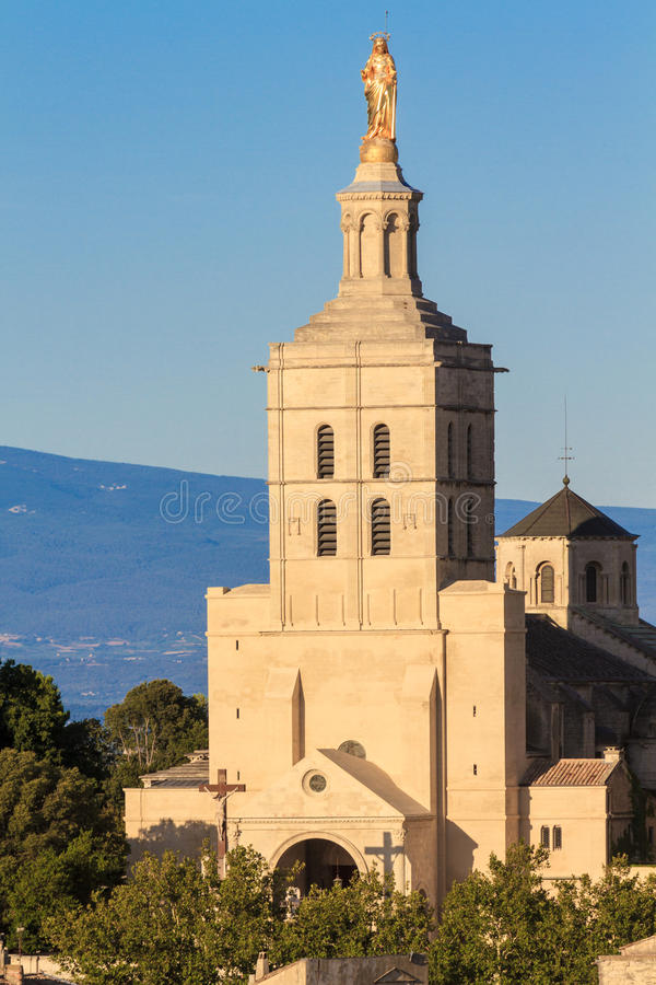 Avignon - Notre Dames des Domes Church. Near Papal Palace, Provence, France stock images