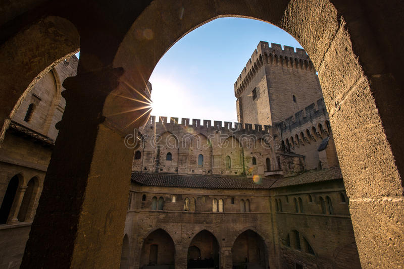 Avignon. Palace of popes Avignon (FR stock photo