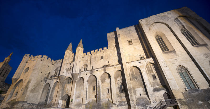 Download Avignon, Palais Des Papes By Night Stock Photo - Image: 33487450