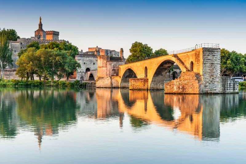 Avignon, Provence, França - Saint-Benezet de Pont fotos de stock
