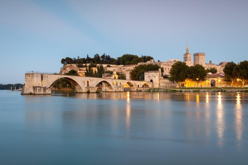 Bridge Saint-Bénezet in Avignon, Provence, France royalty free stock photos