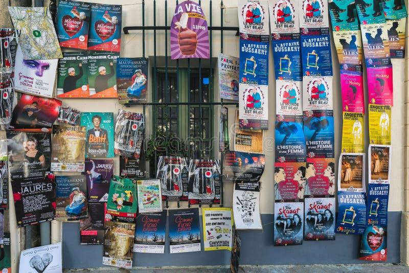 AVIGNON, PROVENCE, FRANCE - JULY 5, 2017: Festival d`Avignon stock image