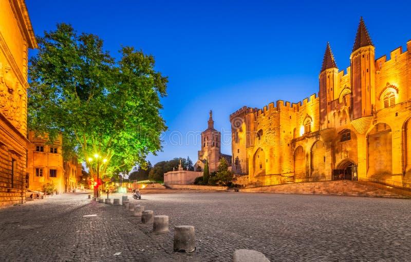 Avignon, Provence, France - papes Palace images libres de droits
