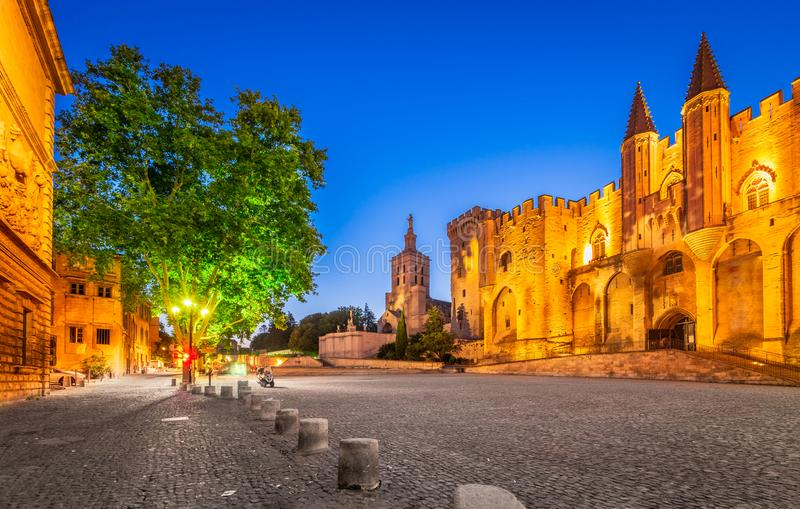 Avignon, Provence, France - Popes Palace royalty free stock images