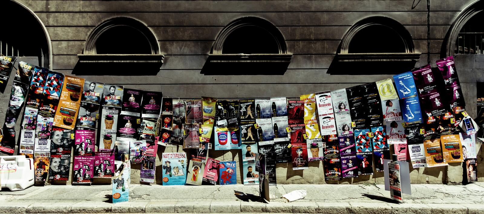 Avignon theatre festival posters royalty free stock photography