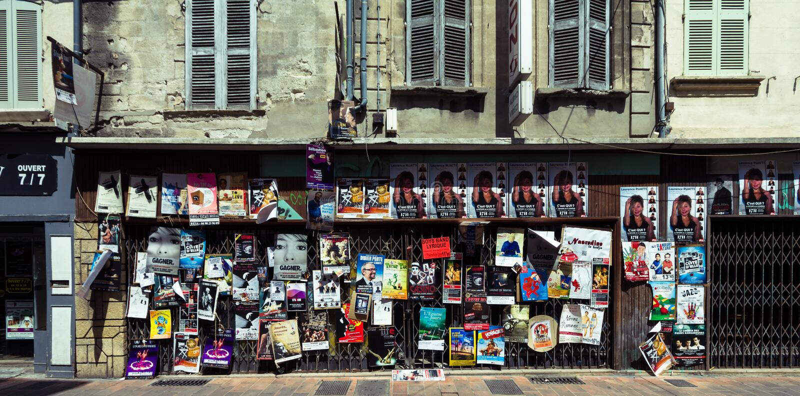 Avignon theatre festival posters royalty free stock photo