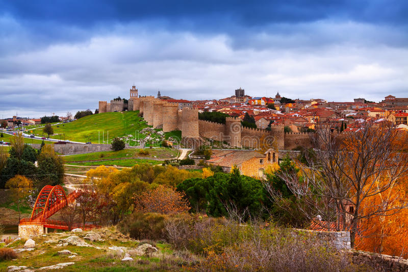 Avila το φθινόπωρο Ισπανία στοκ φωτογραφίες