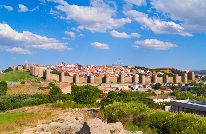 Avila antico, Spagna fotografia stock libera da diritti