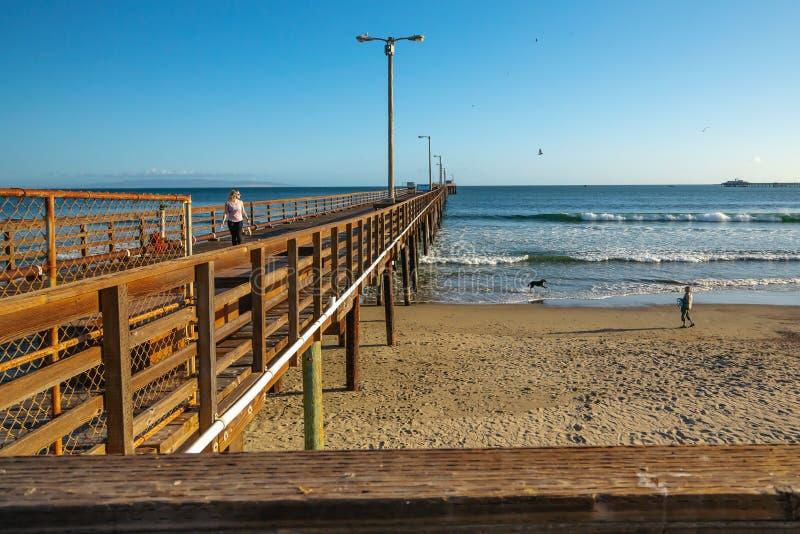 Avila Beach Pier, California stock photography