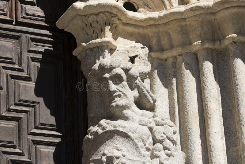 Avila Castilla en Leon, Spanje: kathedraaldetail stock afbeeldingen