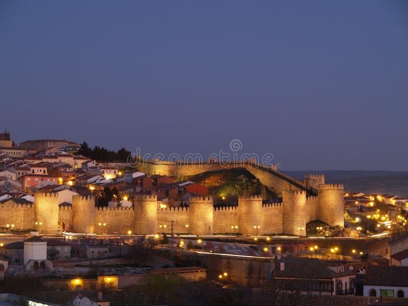 Avila City, Spain. UNESCO Monument. Royalty Free Stock Images