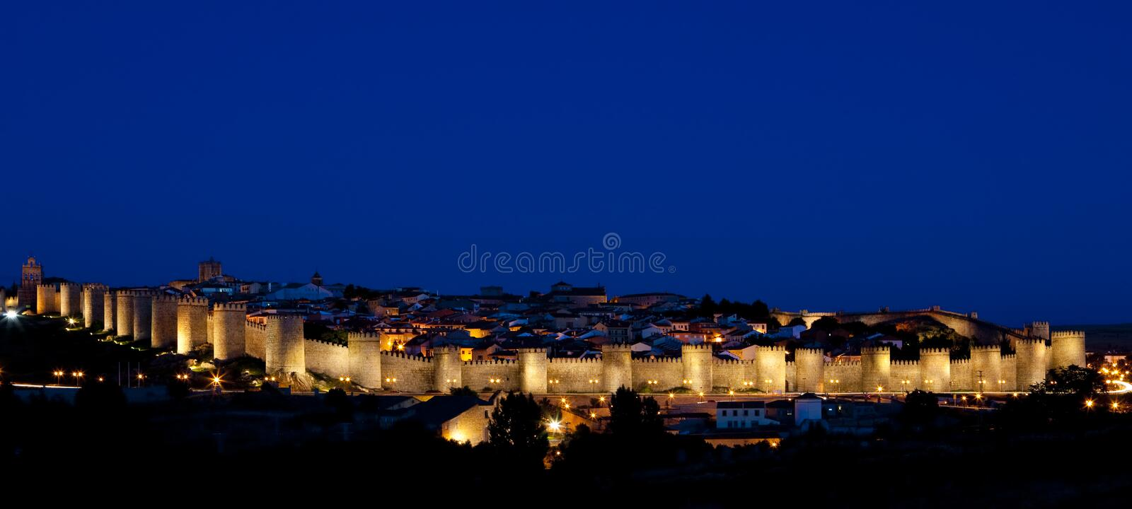 Download Avila at night stock image. Image of heritage, architecture - 10436063