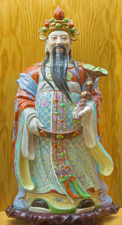 Free AVILA, SPAIN, APRIL - 18, 2016: The Chinese Porcelain Famille Rose Figure Of Tao Lucky Gods Prosperity - Fu Royalty Free Stock Photography - 79169947