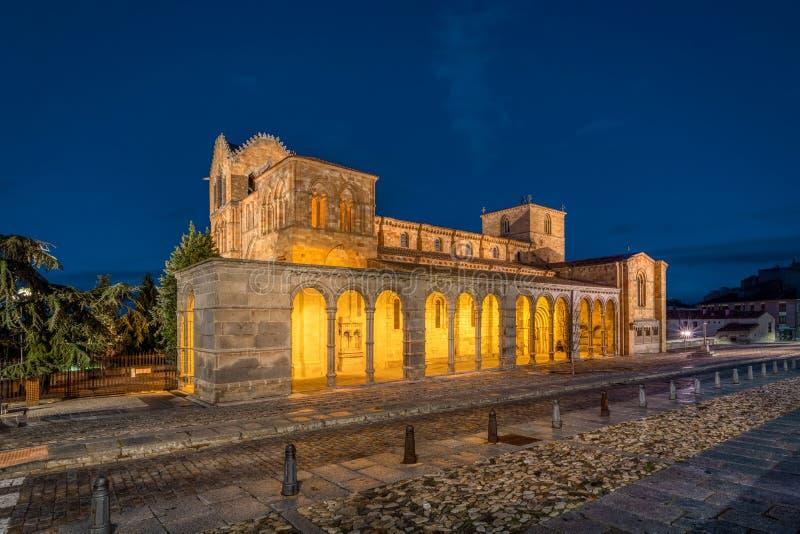 Avila, Spain. View of historic Basílica de San Vicente royalty free stock images