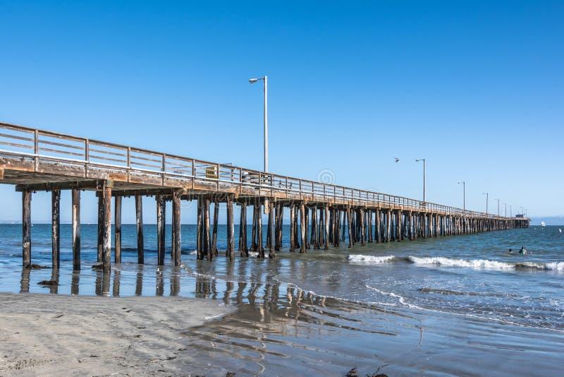 Avila-Strand-Pier, Kalifornien lizenzfreie stockfotos