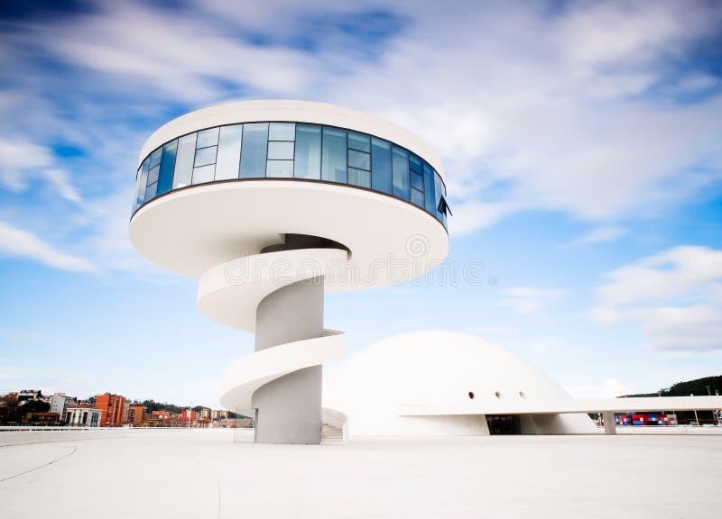 Construção Center de Niemeyer, em Aviles, Spain fotos de stock