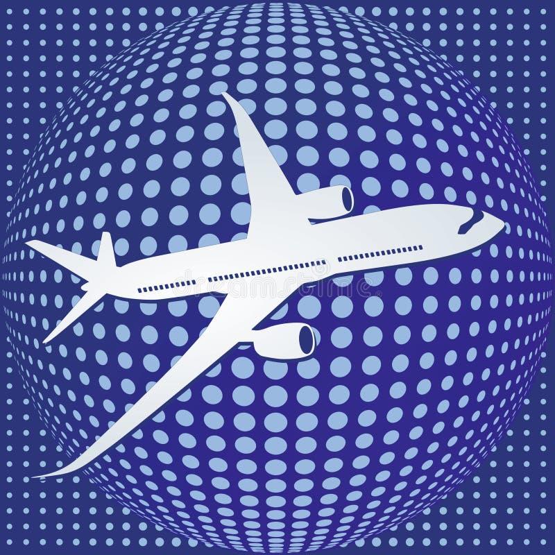 Avion à être aéroporté illustration stock