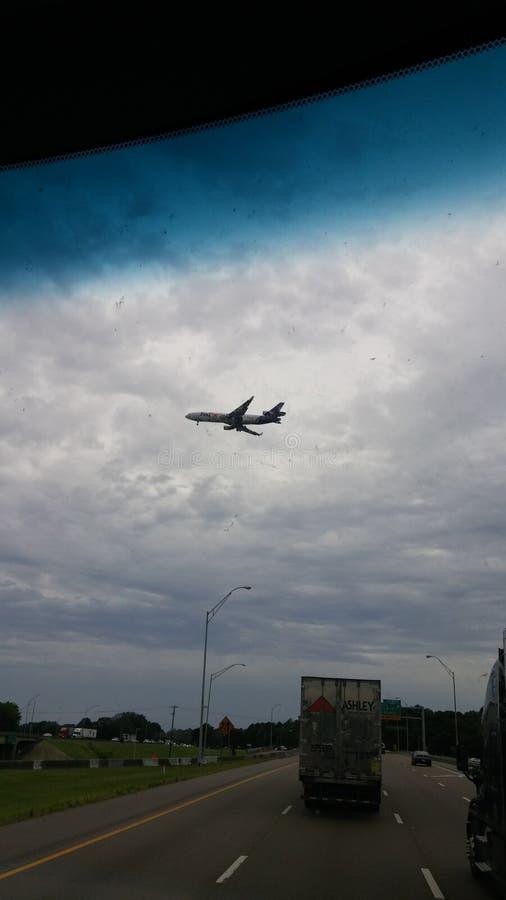 Avion à Memphis photographie stock