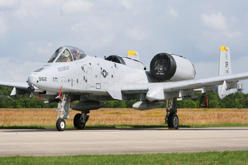 Avion à réaction A-10 image stock