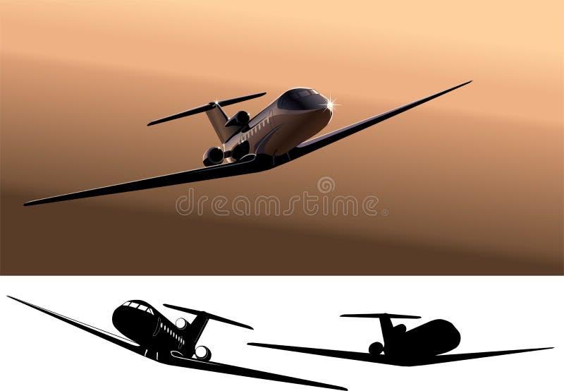 Avion à réaction commercial léger de vecteur illustration libre de droits