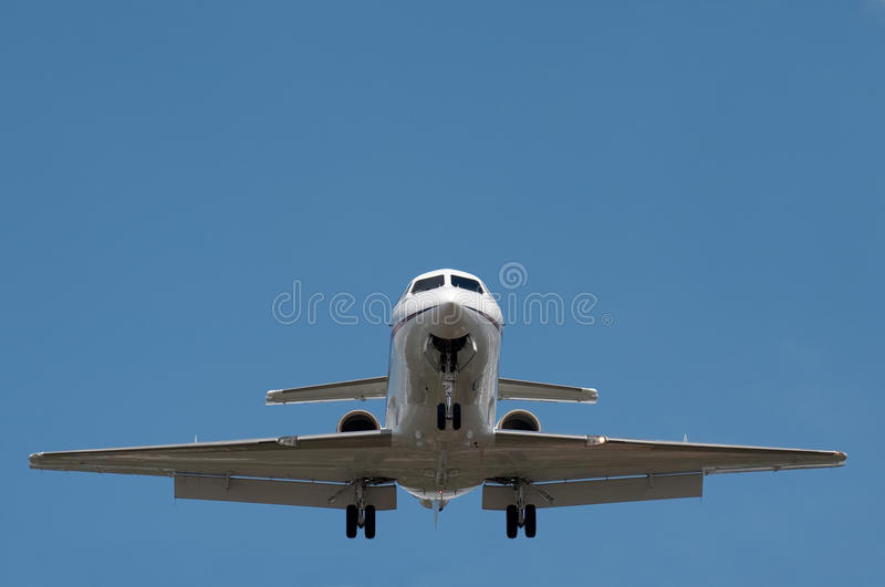 Avion à réaction d'affaires image libre de droits