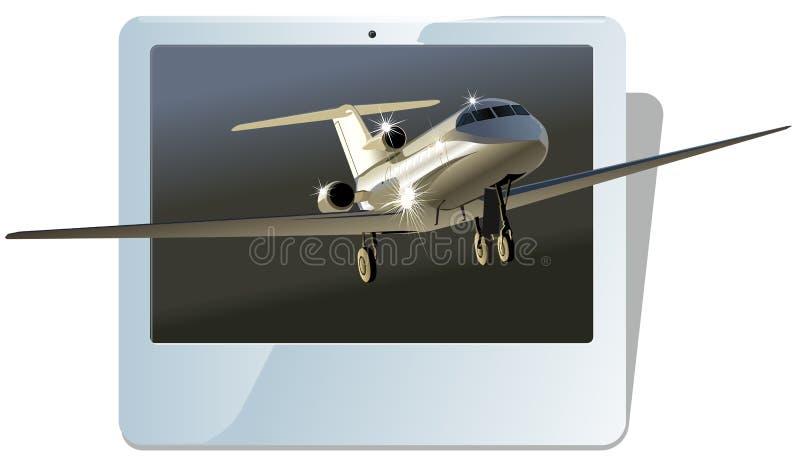 Avion à réaction d'affaires de vecteur illustration stock