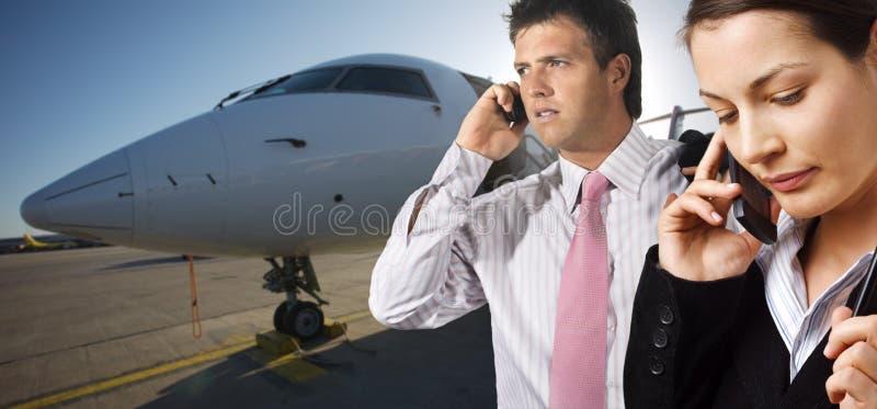 Avion à réaction de corporation images libres de droits