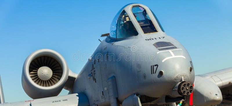 Avion à réaction du coup de foudre A-10 photos libres de droits