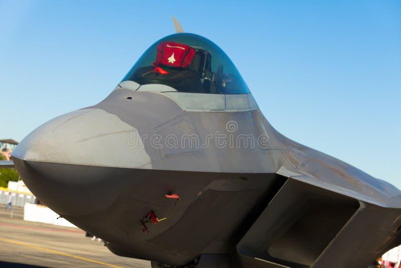Avion à réaction du rapace F-22 photo stock