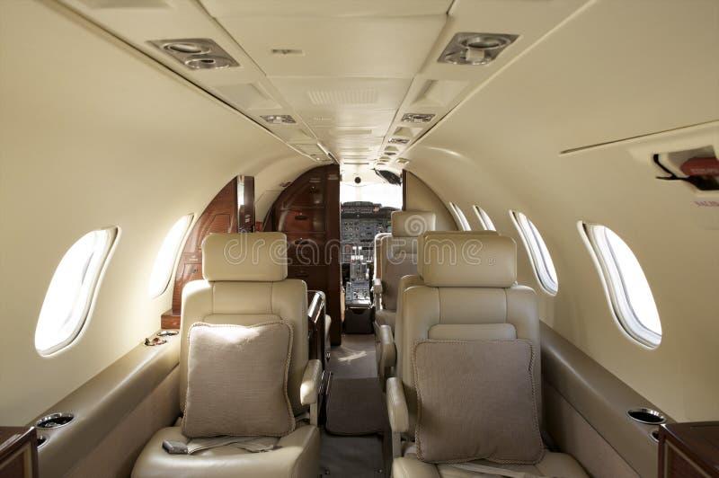 avion à réaction intérieur privé image stock