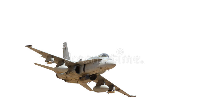 Avion à réaction militaire photos stock