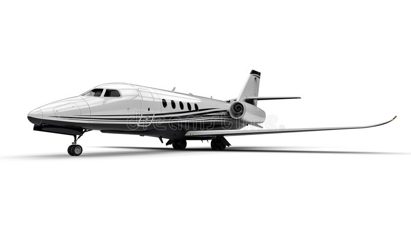 Avion à réaction privé illustration stock