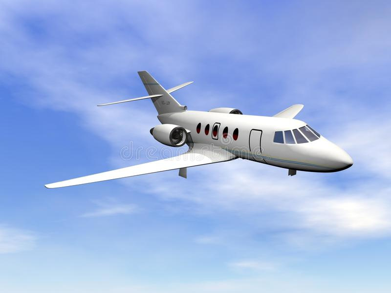 Avion à réaction privé - 3D rendent illustration stock